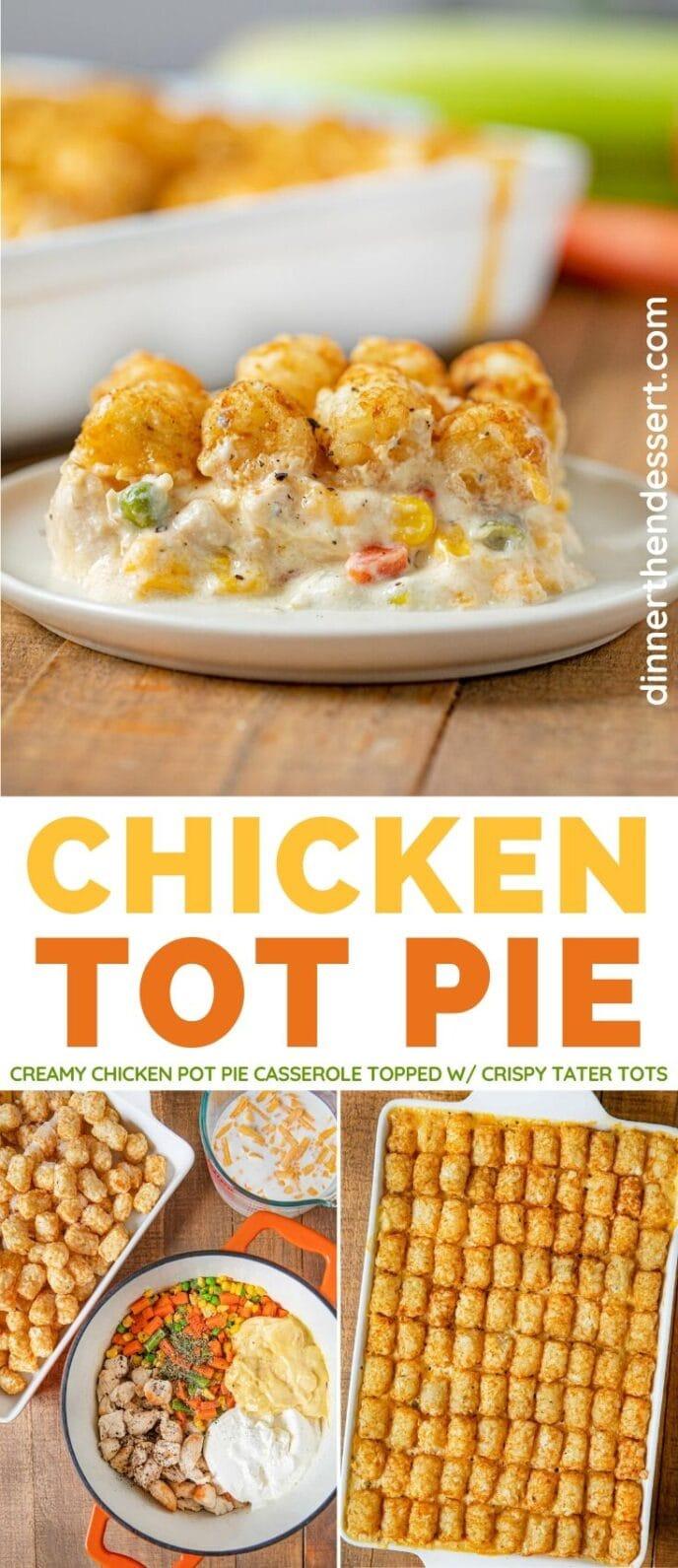 Chicken Tot Pie collage