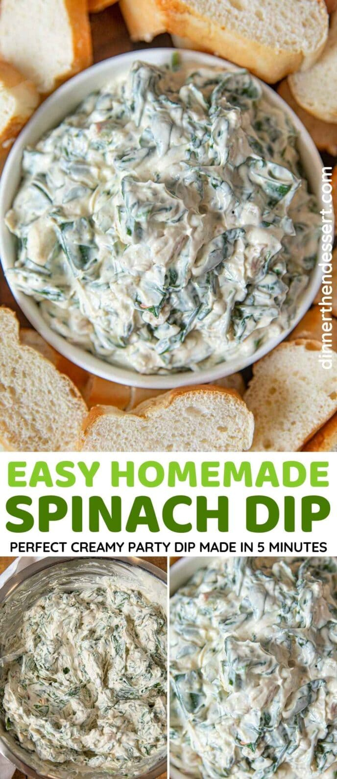 Easy Spinach Dip Collage