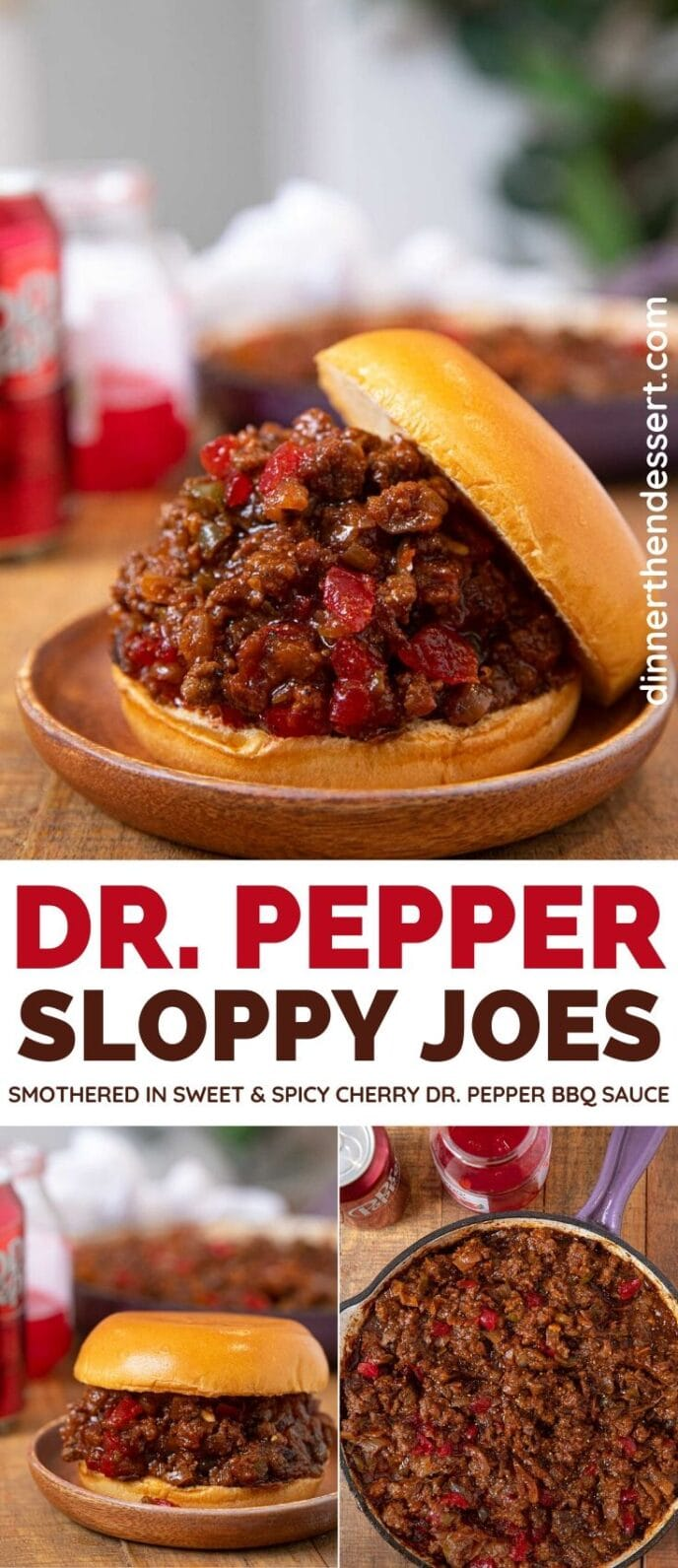 Dr Pepper Sloppy Joes collage