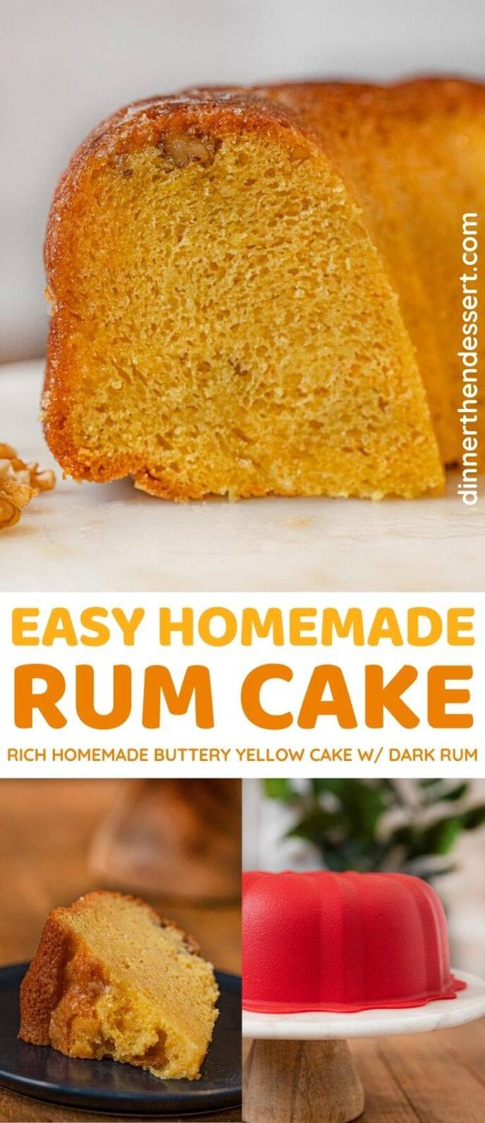 Easy Rum Cake collage