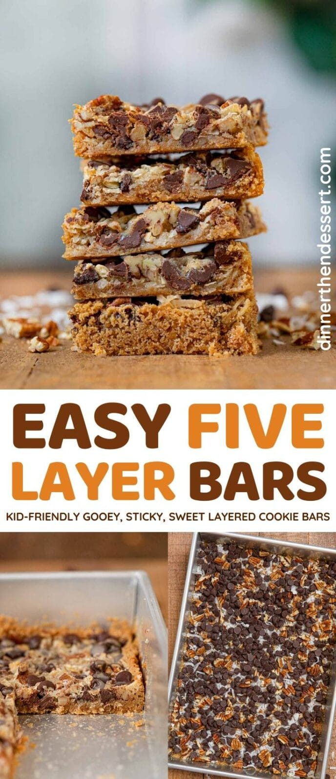 Easy Five Layer Bars collage