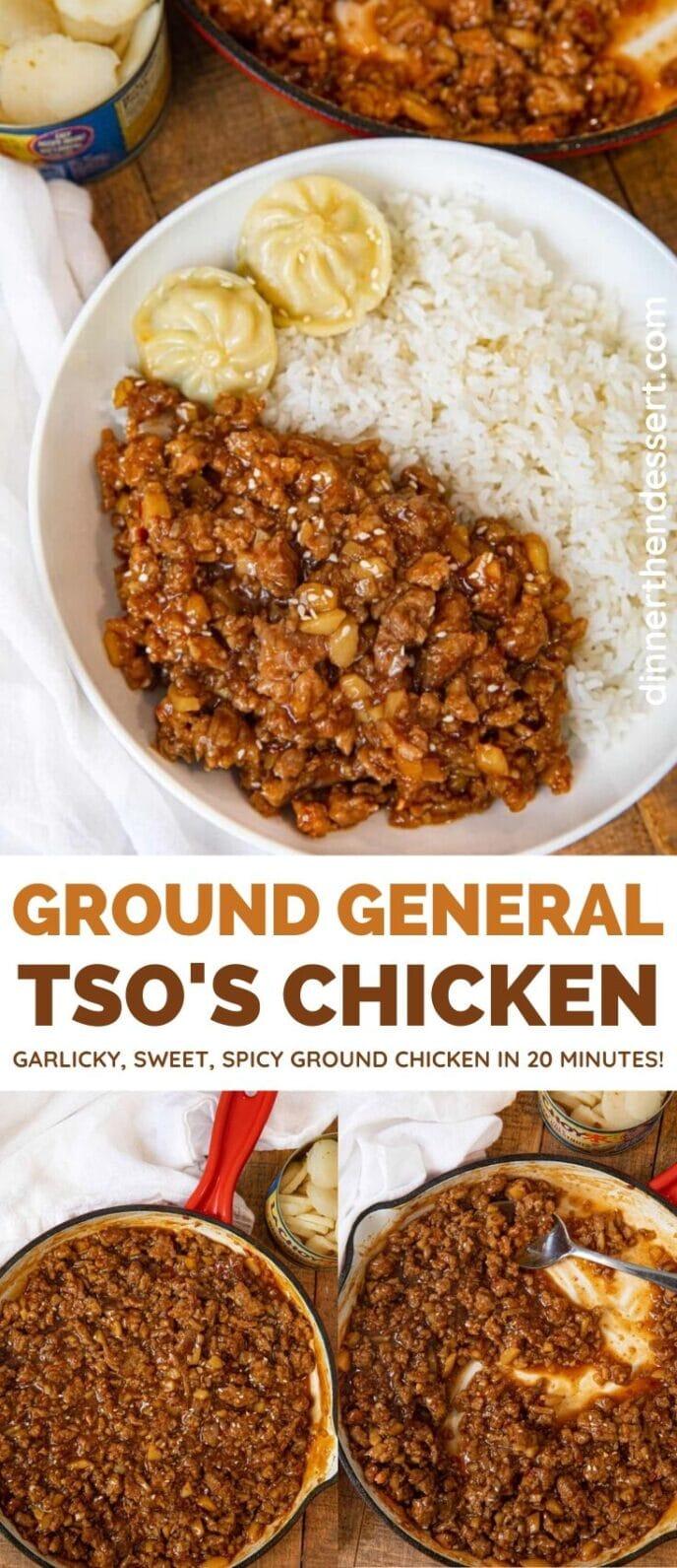 General Tso's Ground Chicken collage