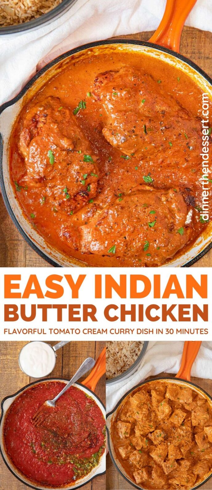 Indian Butter Chicken collage