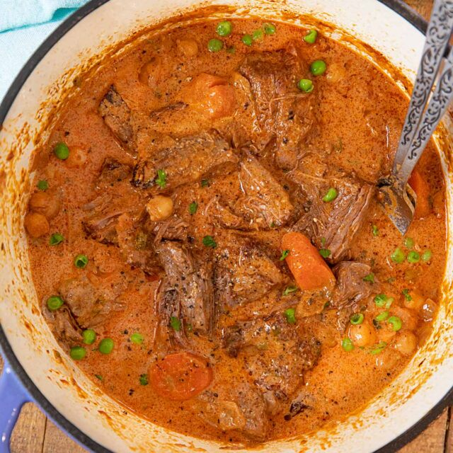 Indian Butter Pot Roast in pot