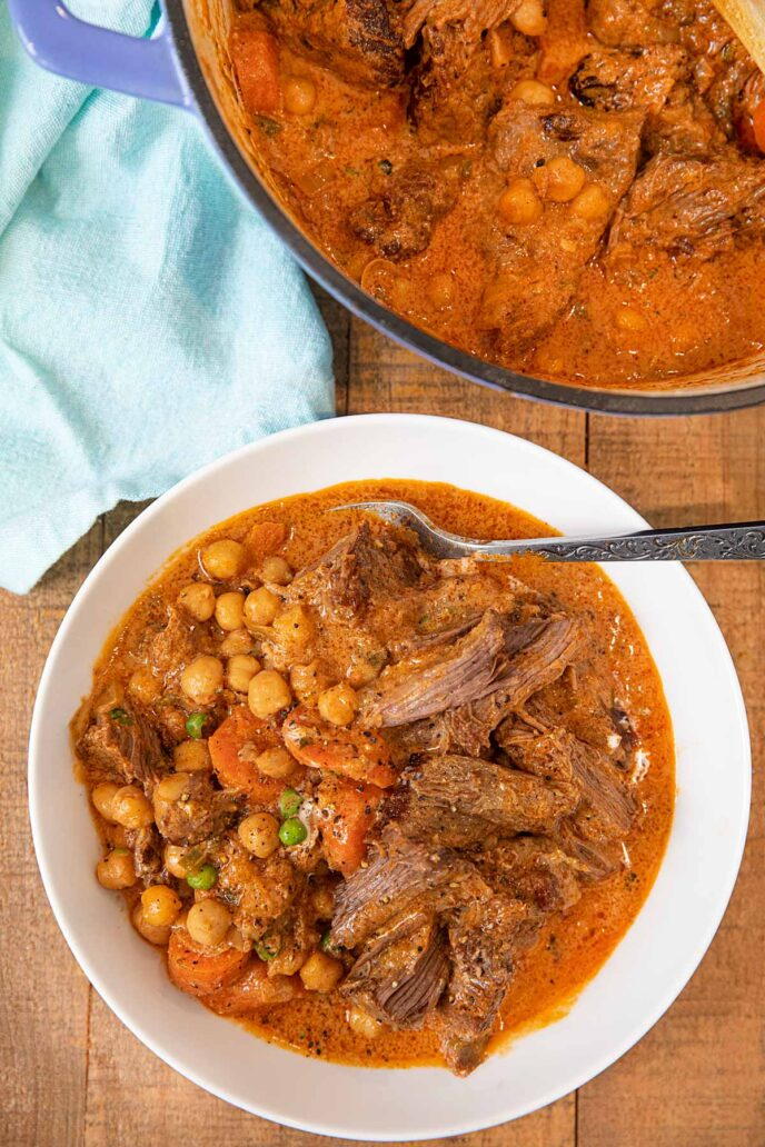 Indian Butter Pot Roast in bowl
