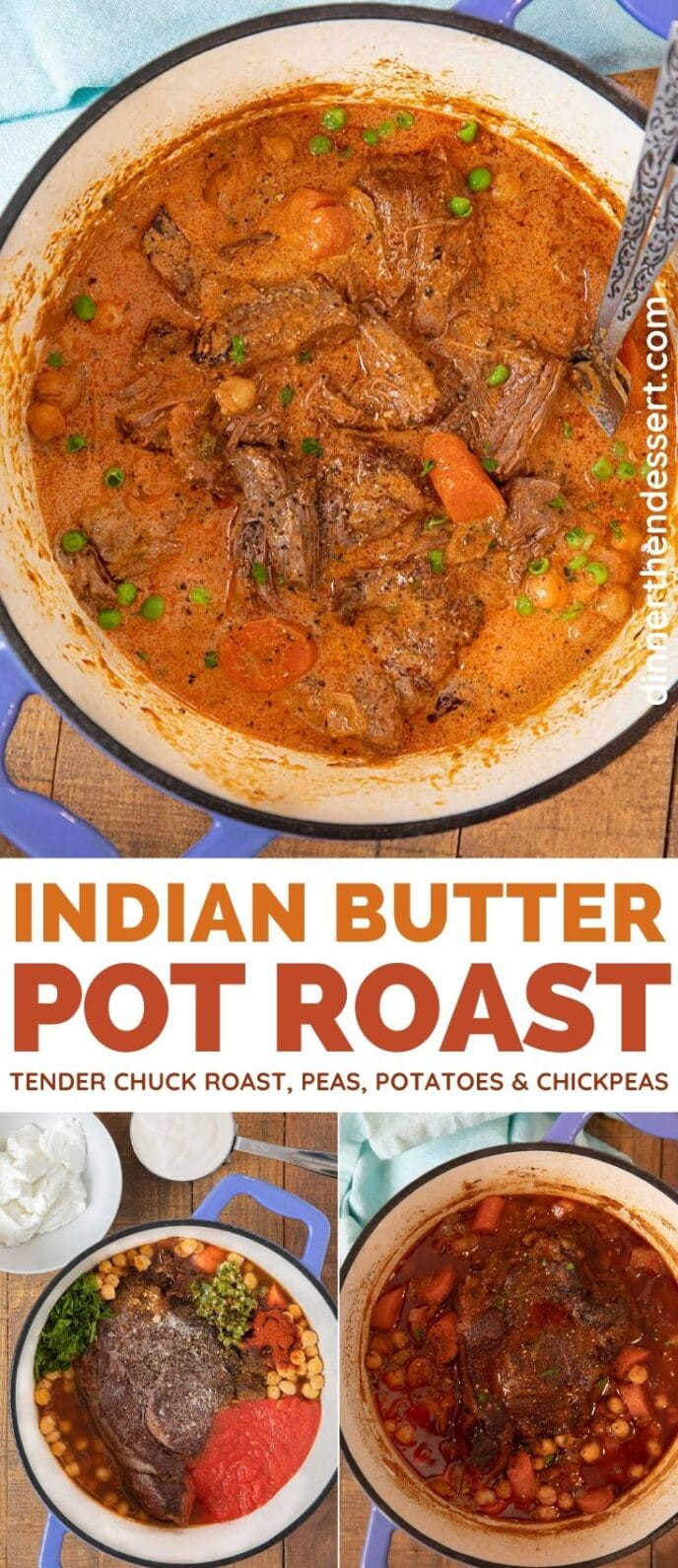 Indian Butter Pot Roast collage