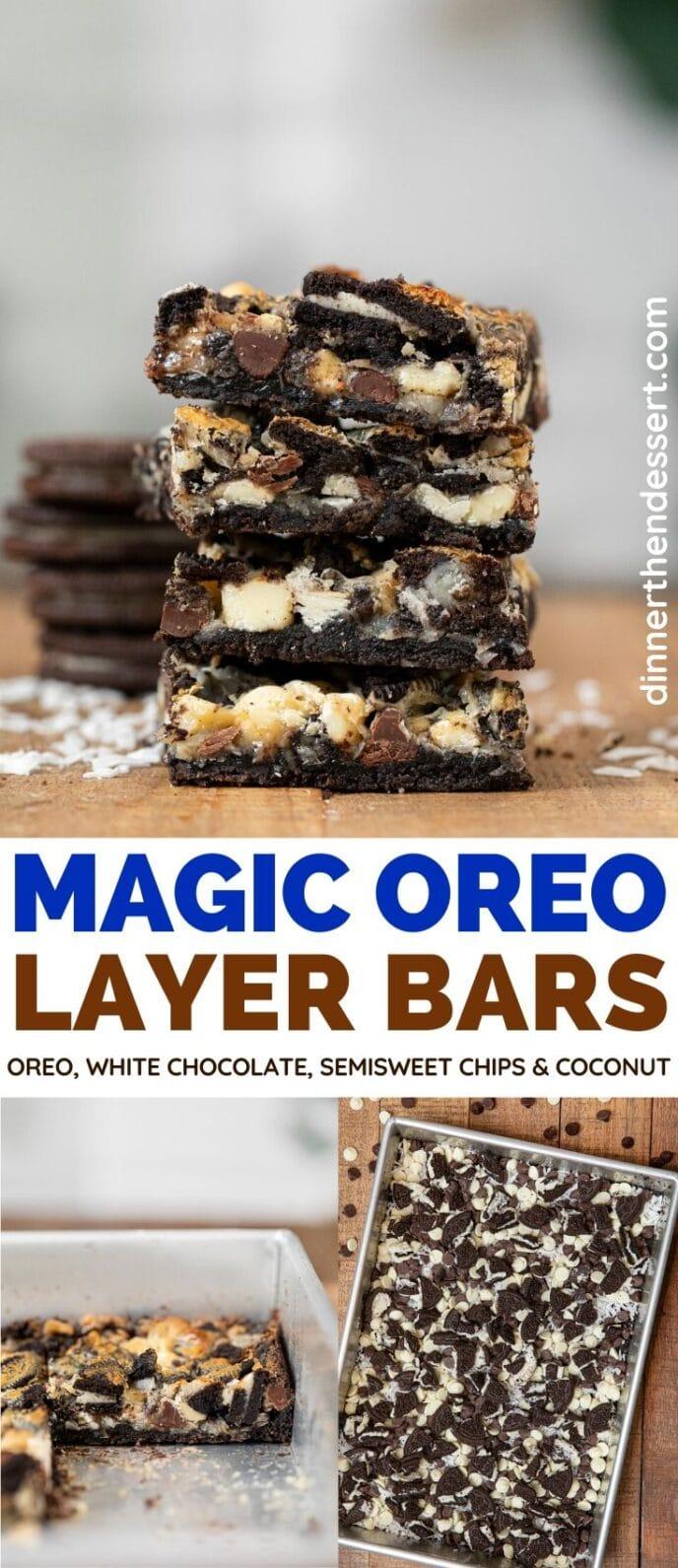 Magic Oreo Layer Bars collage