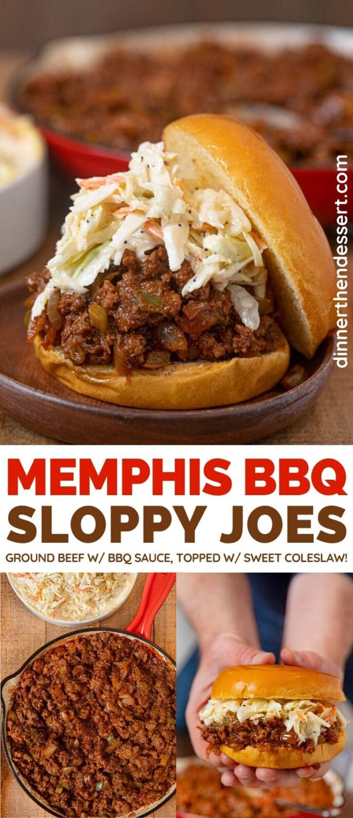 Memphis BBQ Sloppy Joes collage