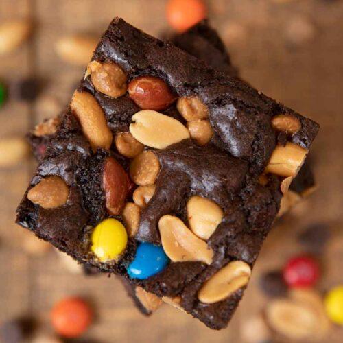 Monster Brownies in stack