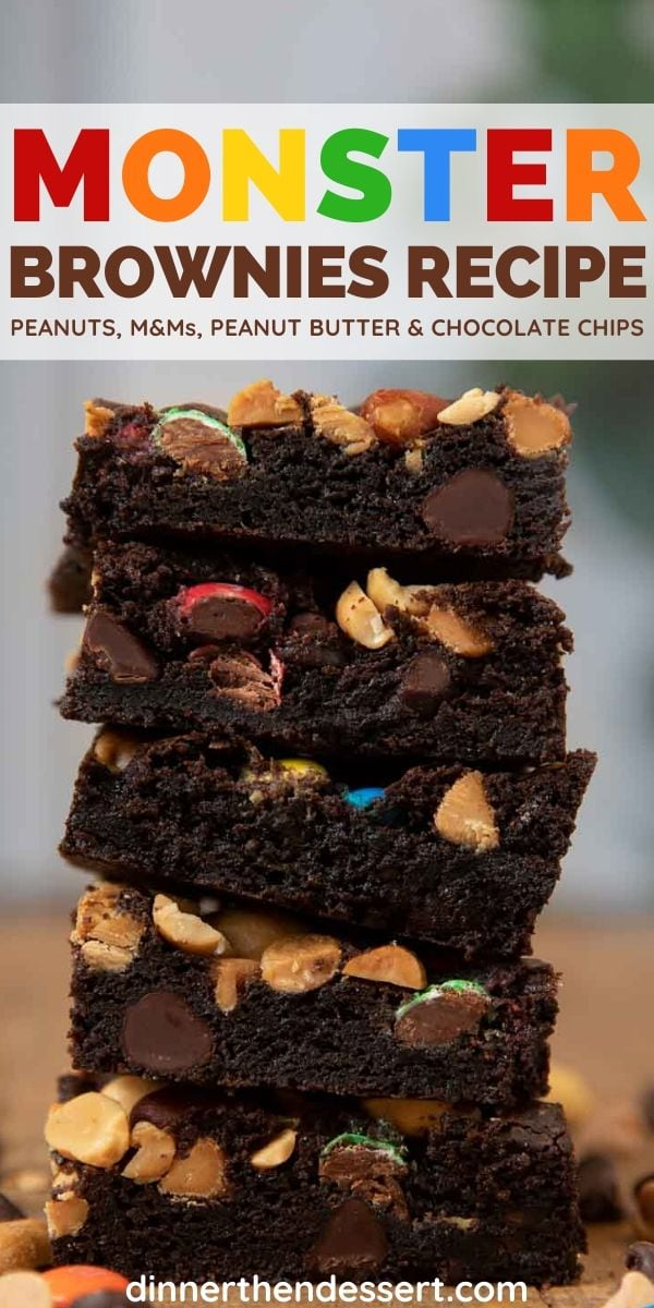 Monster Brownies collage