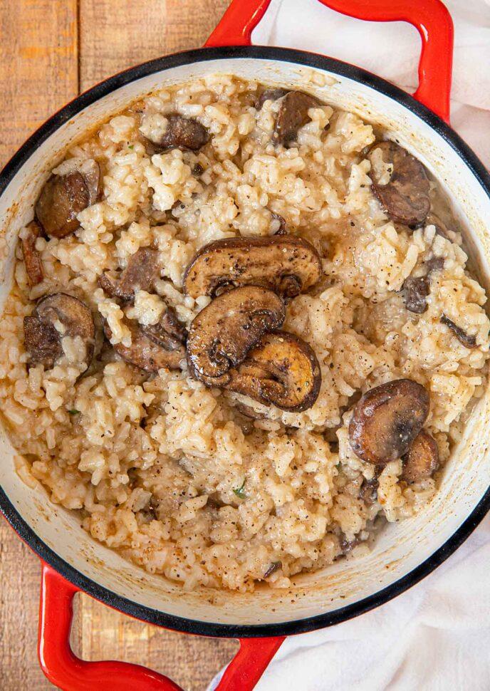 Mushroom Risotto in pot