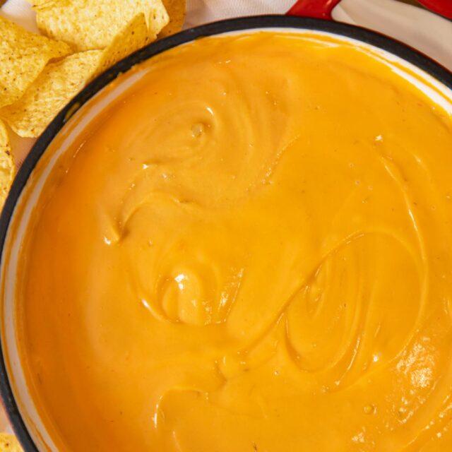 Nacho Cheese Sauce in pot