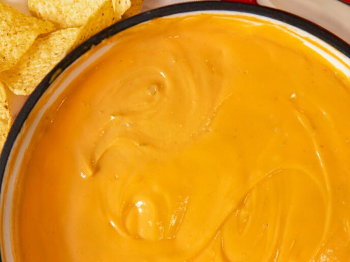 Nacho Cheese Sauce in pot
