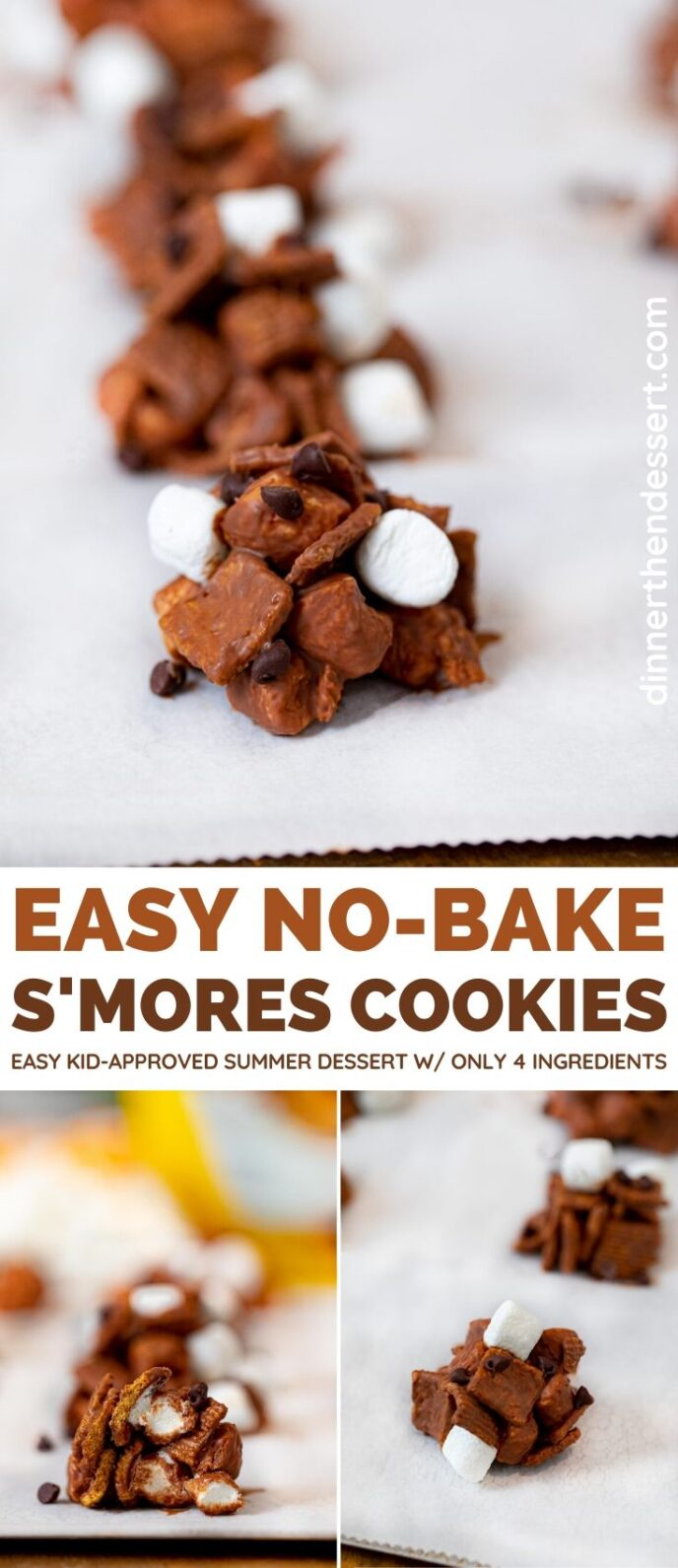 No-Bake S'Mores Cookies collage
