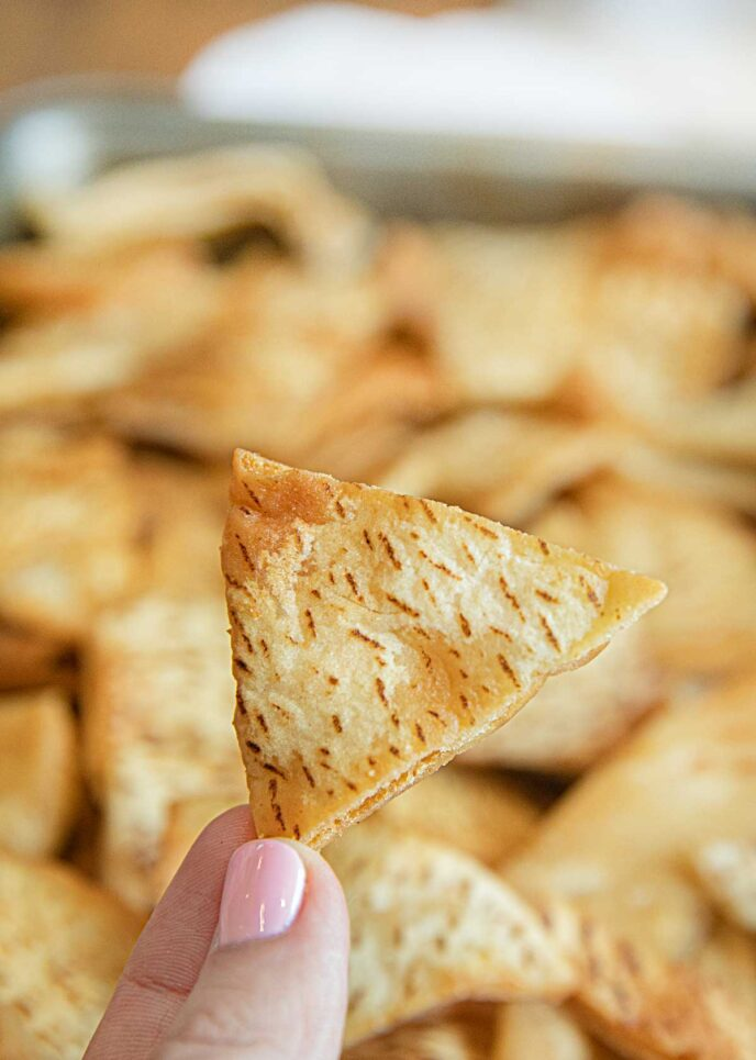 Pita Chip in hand