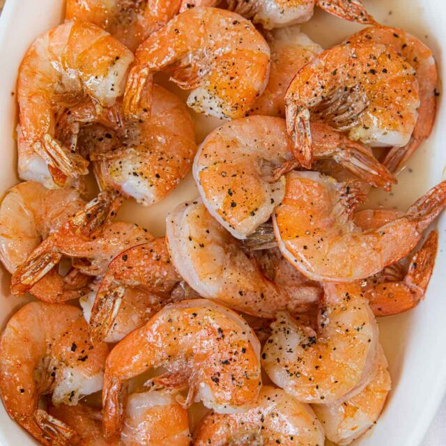 Roasted Shrimp in serving dish