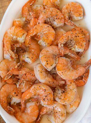 Roasted Shrimp in serving dish