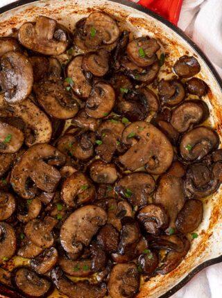 Sauteed Mushroom in pan