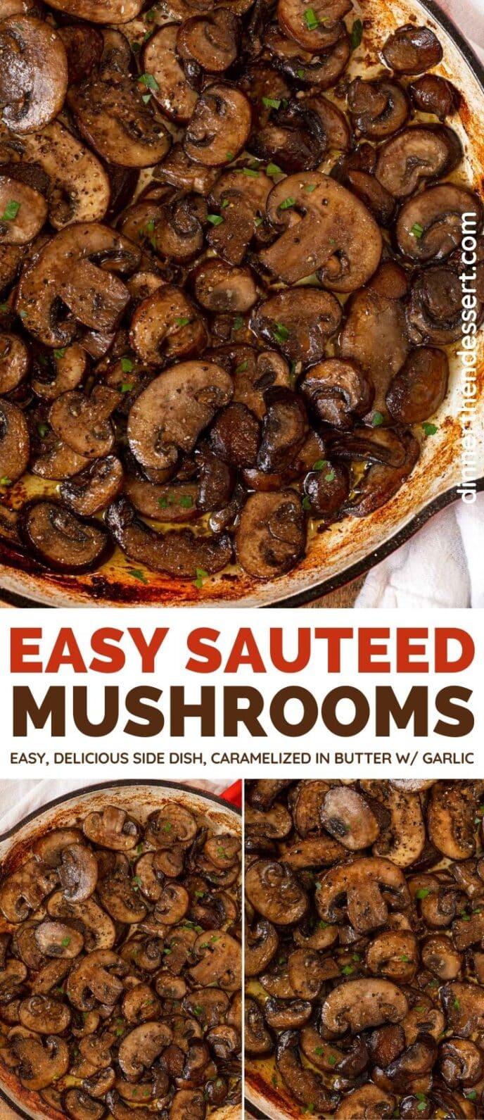 Sauteed Mushrooms collage