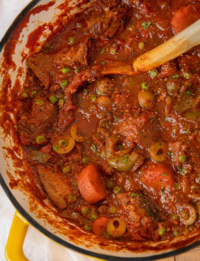 Spanish Beef Stew with Carrots and Olives