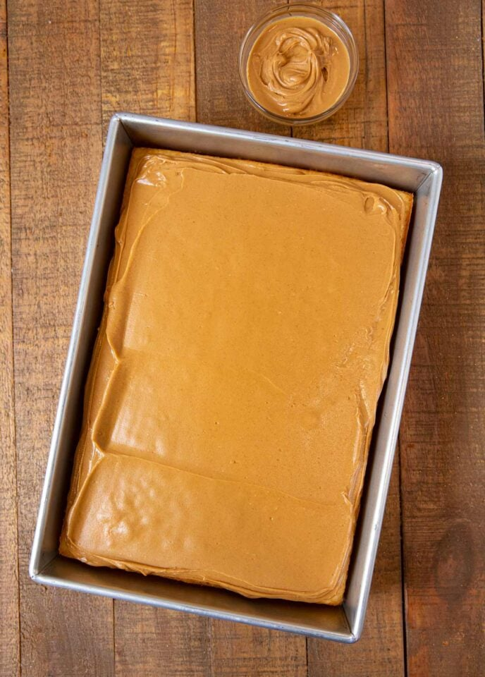 Tasty Kake Peanut Butter Tandy Cake with peanut butter layer applied