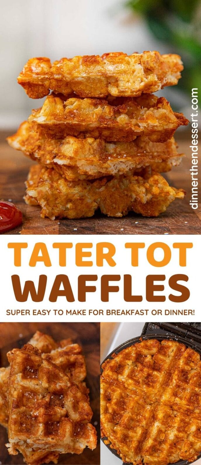 Tater Tot Waffles collage