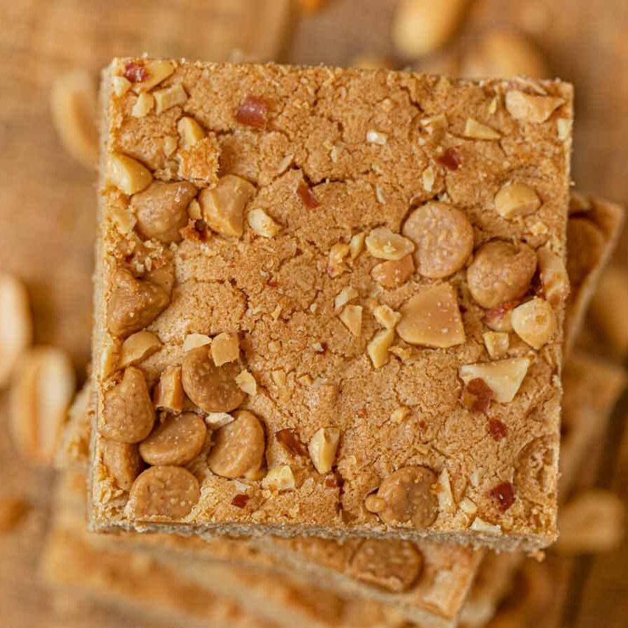 Ultimate Triple Peanut Blondies