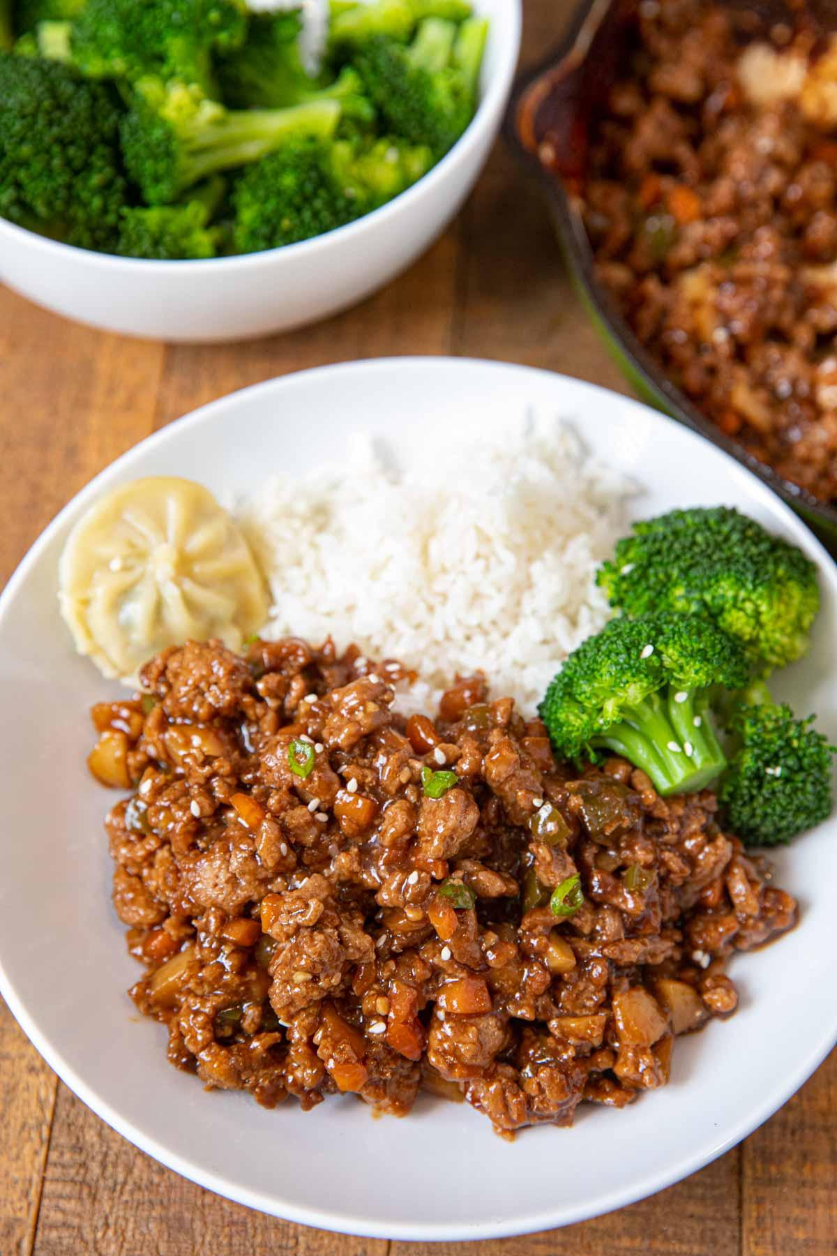 Ground Chicken Stir Fry Recipe Healthy Bowl Dinner Then Dessert