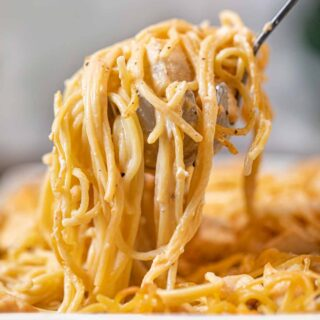 cropped photo of Baked Chicken Spaghetti