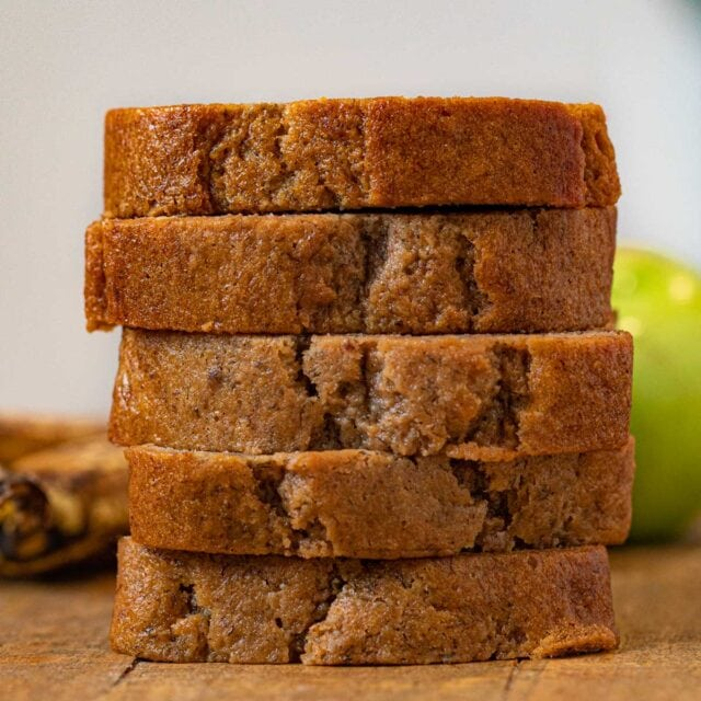 stack of Banana Applesauce Bread