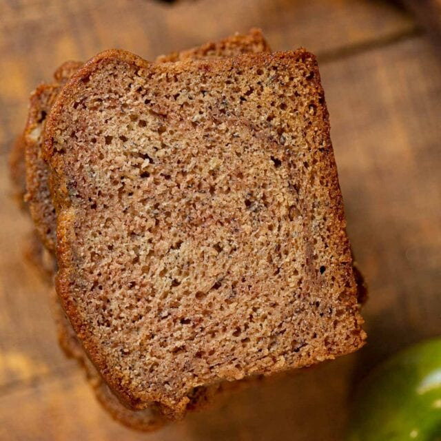 Banana Applesauce Bread top down photo