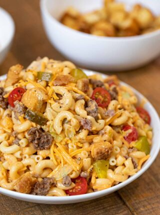 Big Mac Pasta Salad in bowl