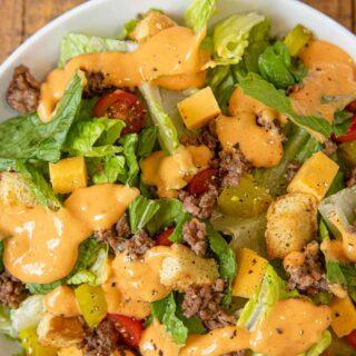 Big Mac Salad in bowl