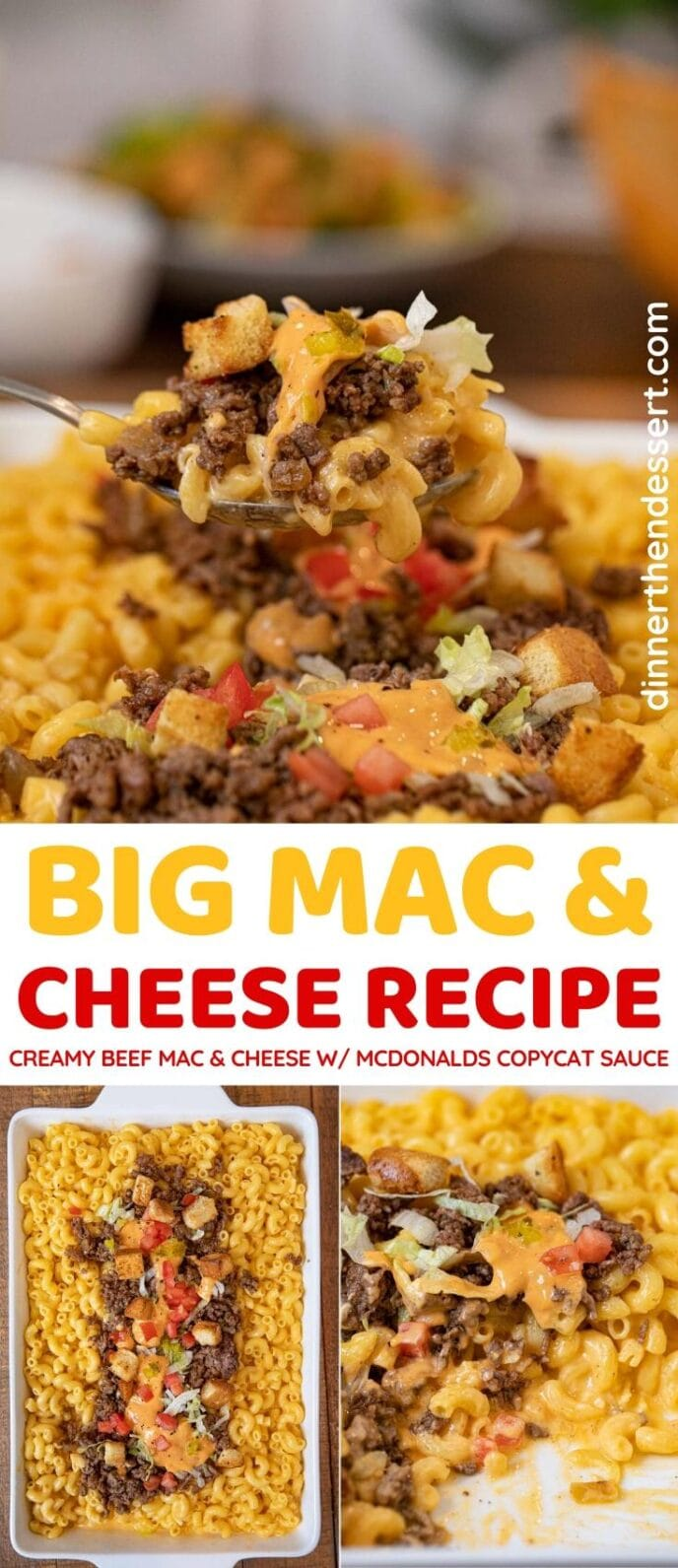 Big Mac and Cheese collage