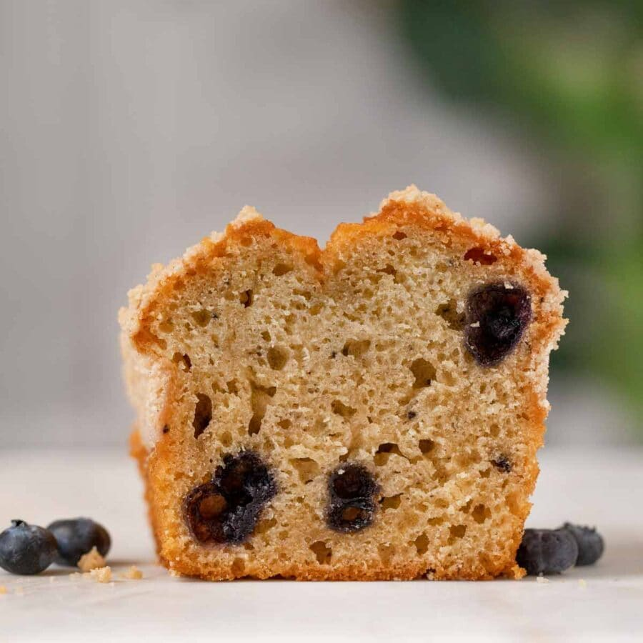 Blueberry Muffin Bread cross section