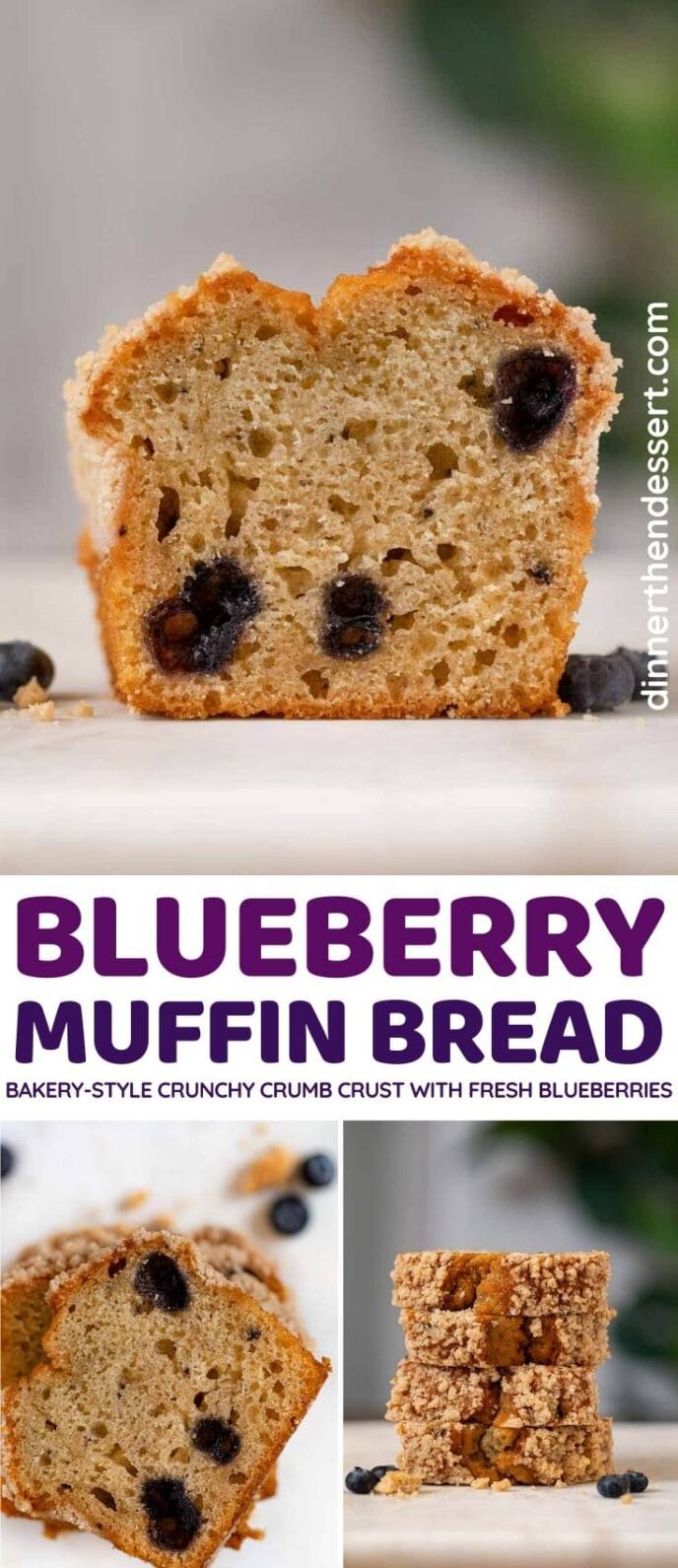 Blueberry Muffin Bread collage