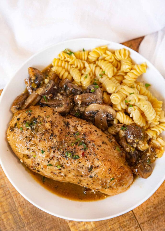 Braised Chicken Breast With Mushrooms Recipe Dinner Then Dessert