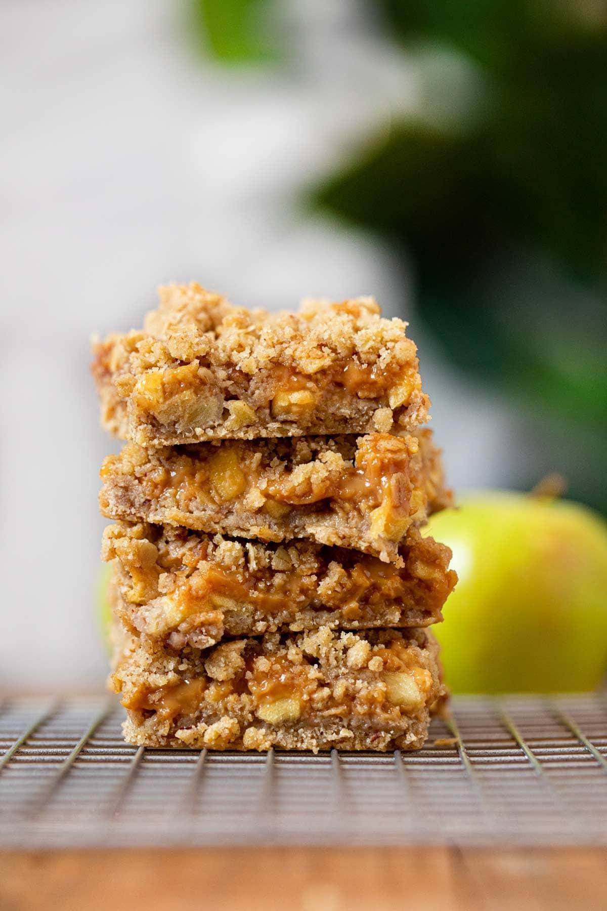 Easy Caramel Apple Bars Recipe Dinner Then Dessert