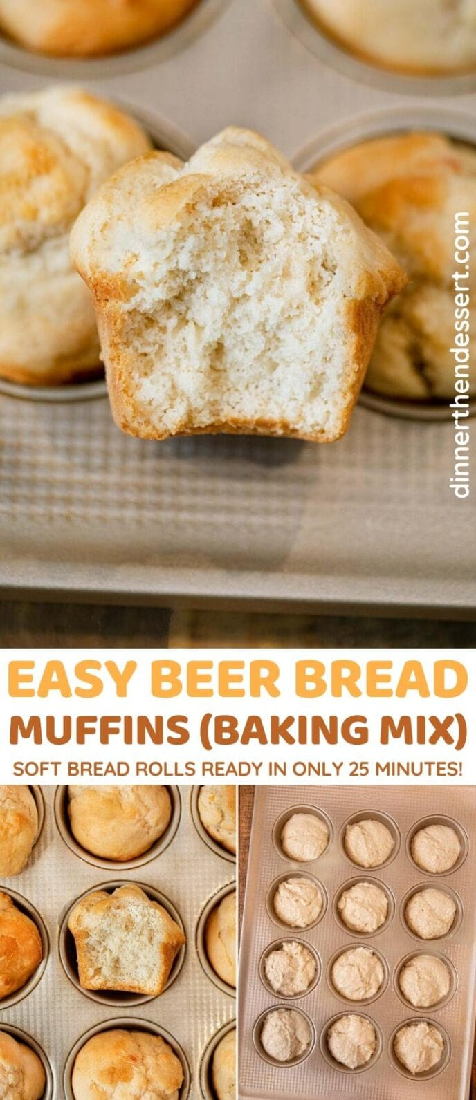 Beer Bread Muffins collage