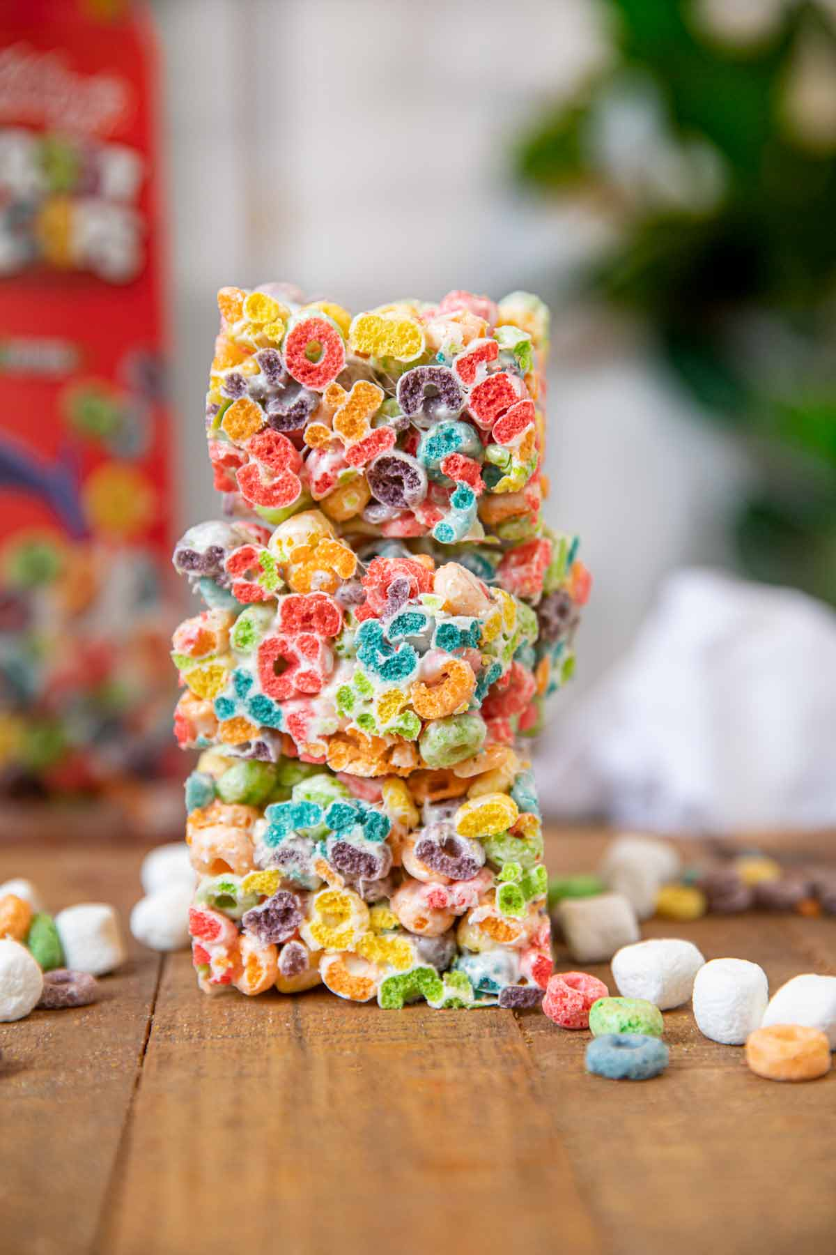 Fruit Loop Cereal Bars in stack