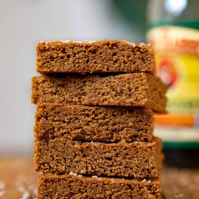 Ginger Cookie Bars in stack