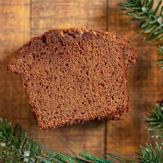 Gingerbread Loaf Cake slice