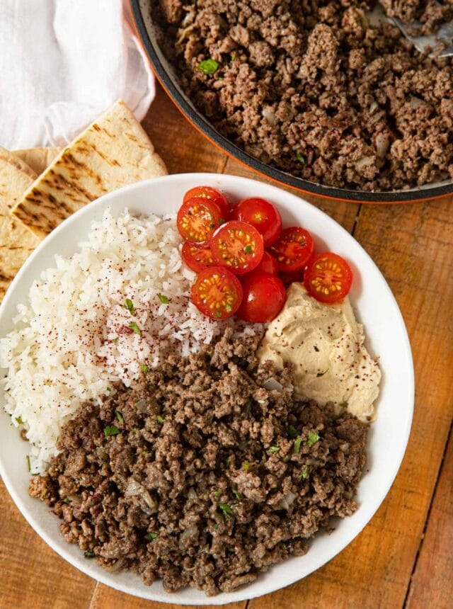 Ground Middle Eastern Beef Bowl