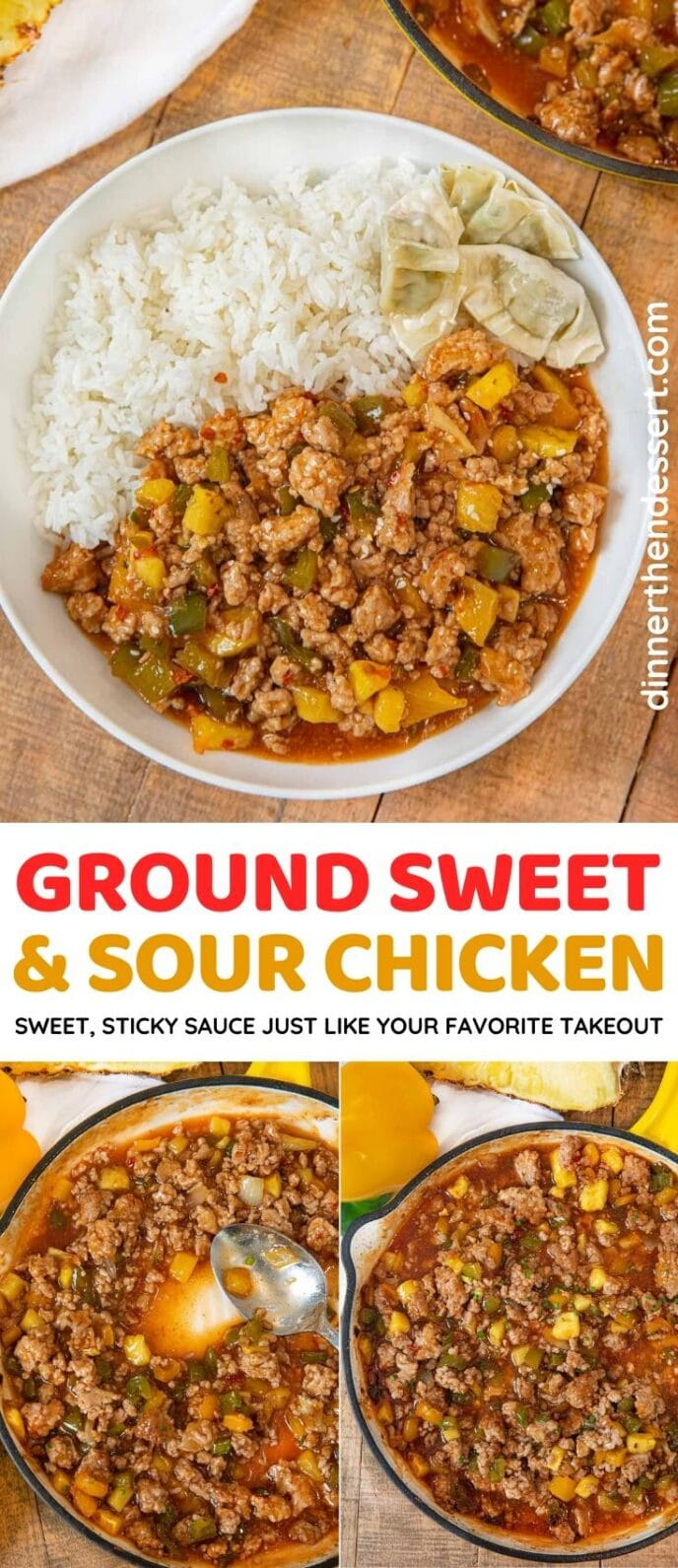 Ground Sweet and Sour Chicken collage