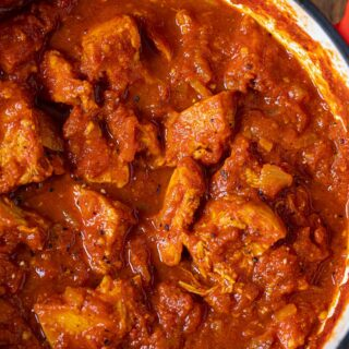 Indian Tomato Chicken in large pot