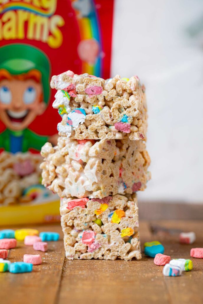 Lucky Charms Bars in stack