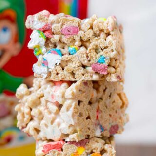 Lucky Charms Cereal Bars in stack