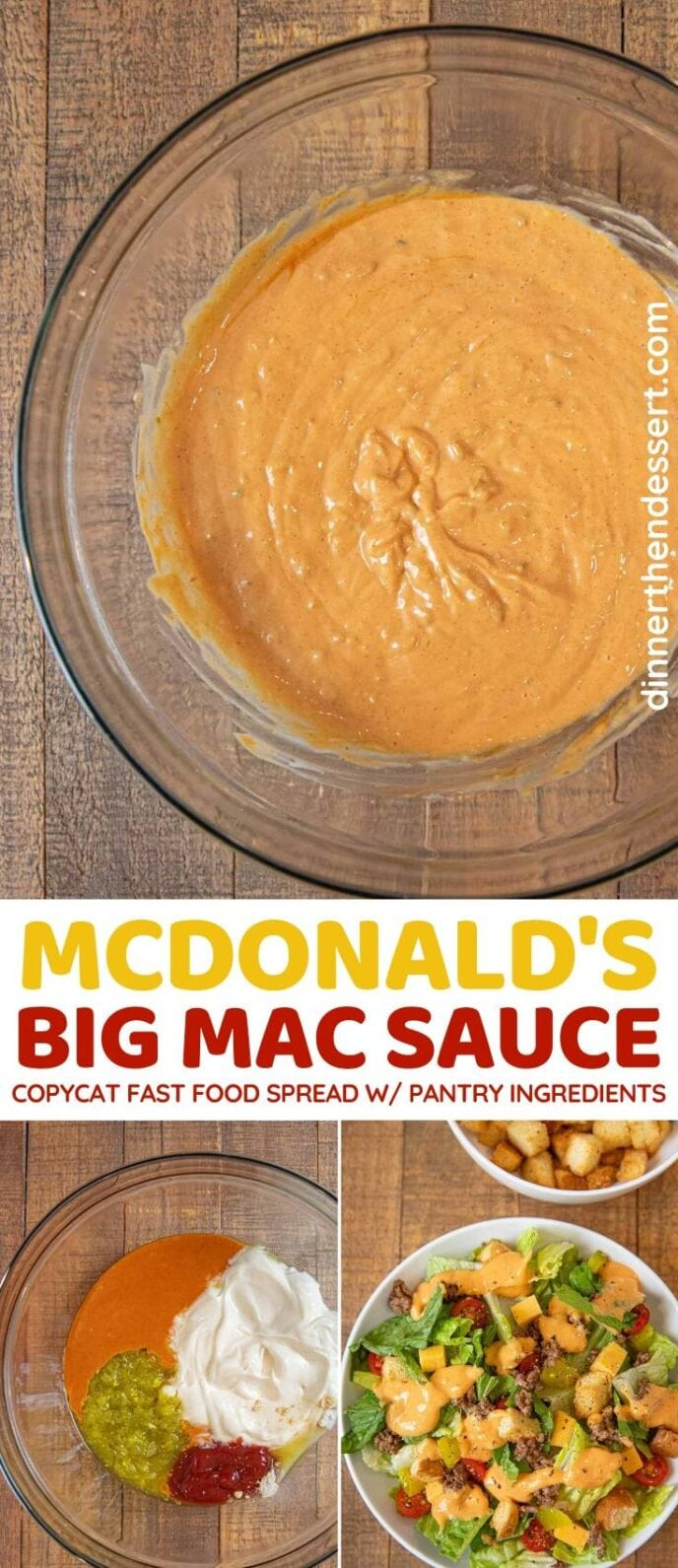 McDonald's Big Mac Sauce Copycat collage
