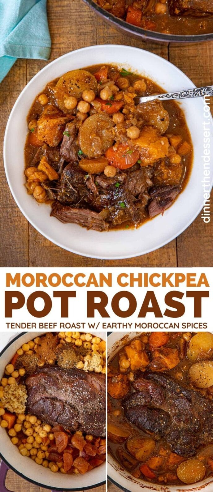 Moroccan Chickpea Pot Roast collage
