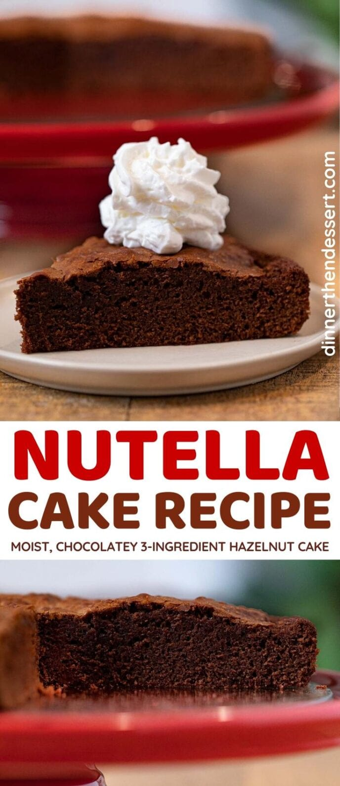 Nutella Cake collage